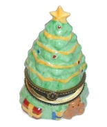 CHRISTMAS HOLIDAY Tree Hinged Trinket Box Colle... - $12.95