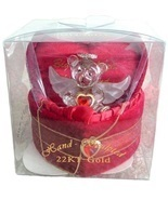VALENTINE Red Lovinbox Angel Bear Hugs Box Gild... - $24.99