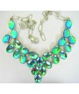 Green Blue + Fushia Neon Mystic Fire Topaz Oval... - $229.94