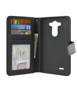 LG G3 Folio PU Leather Wallet Case - Navor (Black) - $15.50