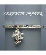 Religeous Serenity Prayer Engraved Angel Bangle... - $12.00