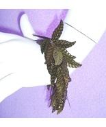Leaf Leaves Bracelet Olive Sequins Silver Tone ... - $4.99