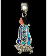 Sterling Silver Turquoise Inlay NAVAJO WOMAN Re... - $691.02