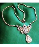 Coro Pegasus Vintage 1950s Crystal Lavalier Bri... - $325.71