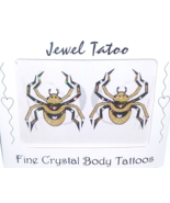 Spider Tattoo Belly Body Nipple Crystal Pasties... - $17.99