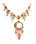 Necklace Earring Set Dangle Multicolor Crystal ... - $29.99