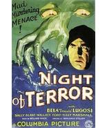 Night Of Terror 1933 DVD Bela Lugosi - $9.00