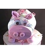 Pink PIGGY BANK Baby Diaper Cake TOPPER ONLY - $32.00