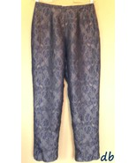 Coldwater Creek SILK pants BLUE paisleys SMALL ... - $20.06