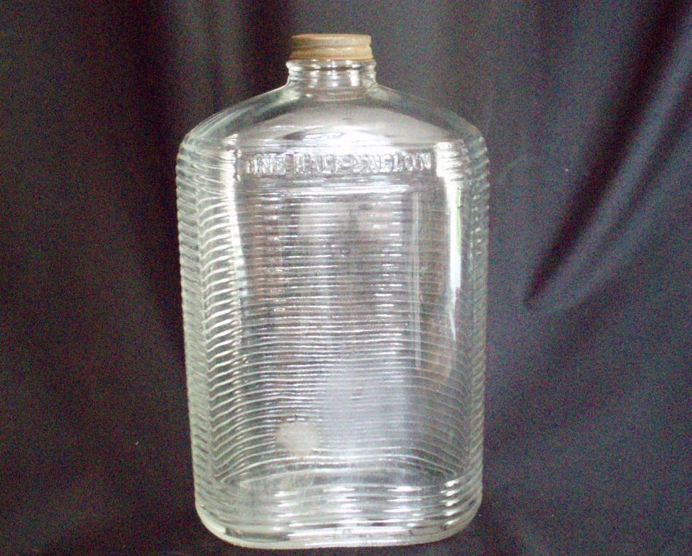 vintage Wine bottle 1/2 Gal. refrigerator bottle
