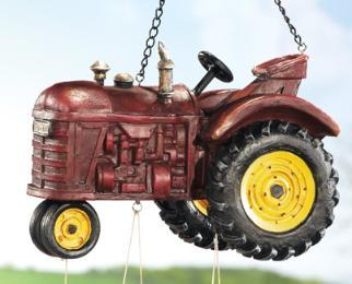 Country Farm Tractor Garden Windchime