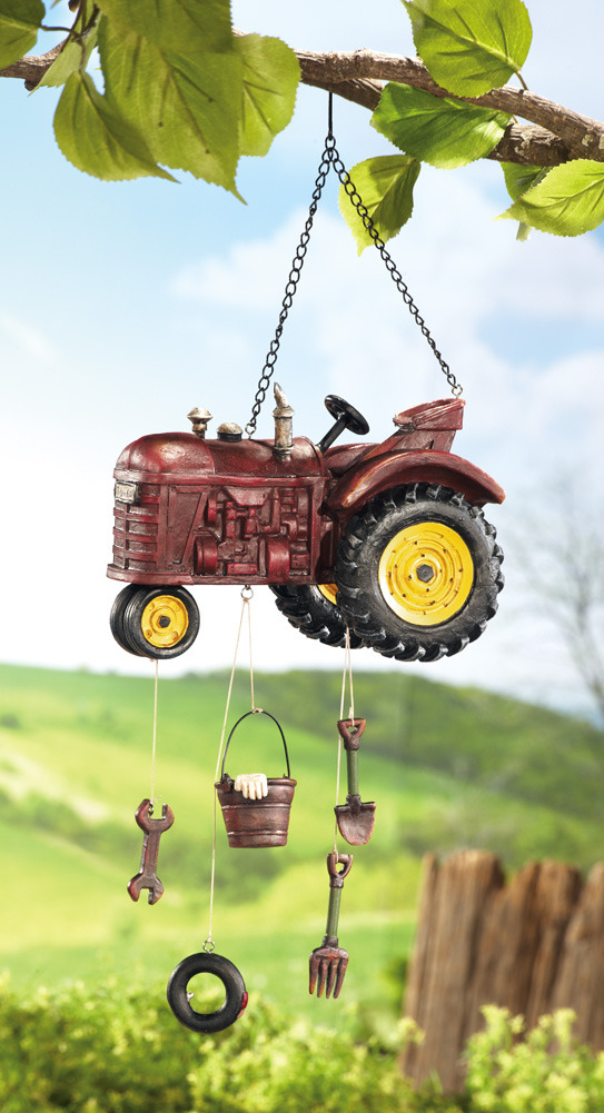 Image 1 of    Country Farm Tractor Garden Windchime