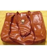 Large Brown Dillards Leather Hobo Shoulder  Han... - $59.35