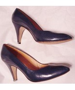 Evan Picone Blue Heels Size 6.5 M Pre-Owned Mad... - $29.65