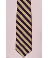 BROOKS BROTHERS Striped Gold & Black Tie Classi... - $19.79