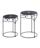 2 Round Wicker Tables - $90.00