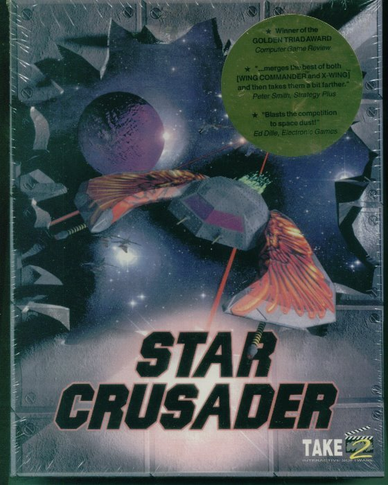 Star Crusader Vintage PC Game Factory Sealed Big Box