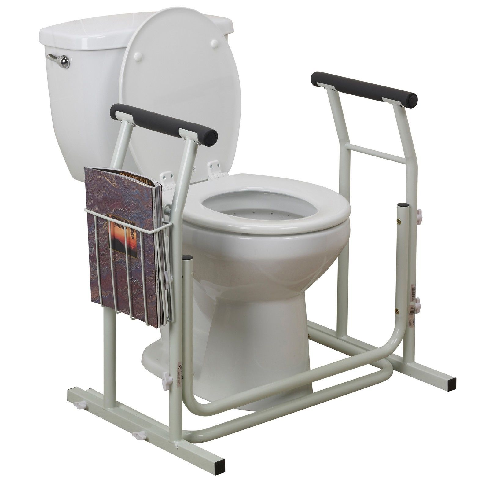 toilet safety rail frame bar support bathroom stand alone grab elderly