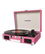 Pink Record Player Portable Retro Briefcase Tur... - $96.02