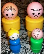 Fisher Price Chunky Jumbo Little People 1974 an... - $5.45