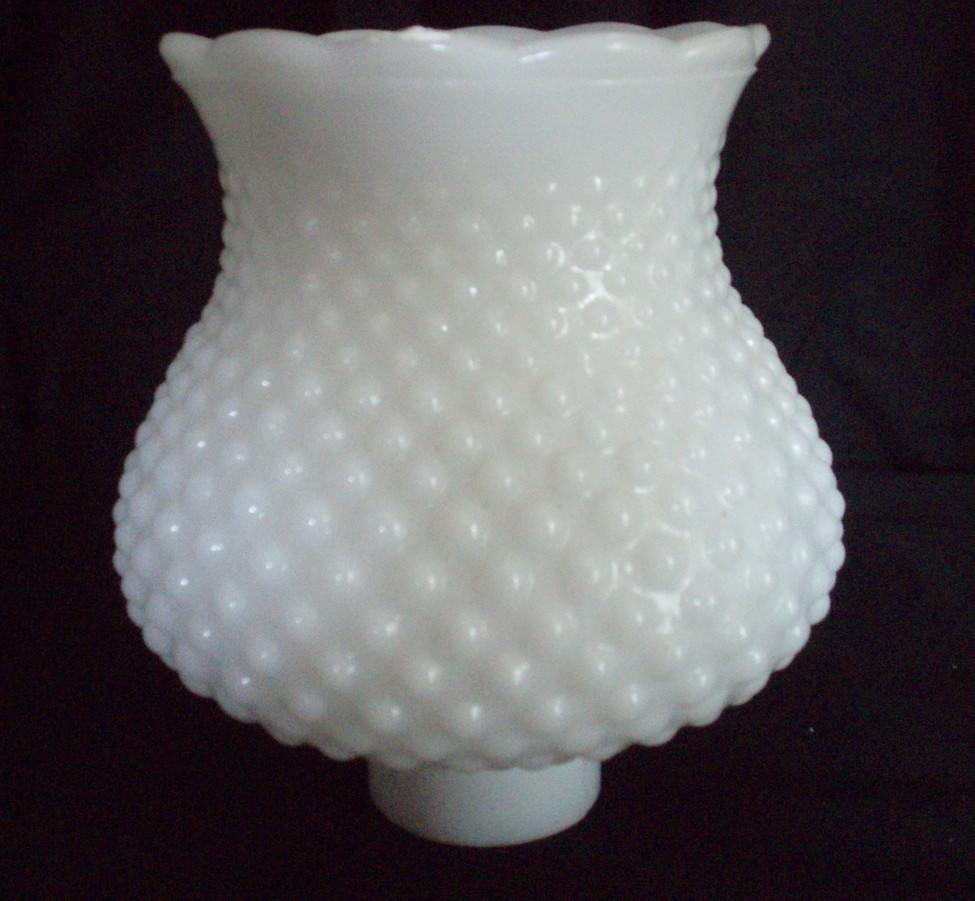 milk glass lamp shade hobnail vintage