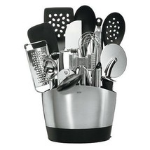 NEW Stainless Steel 15 Pc Kitchen Tool Set w/ H... - $125.63
