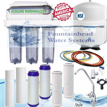 6 Stage Alkaline Reverse Osmosis 100 GPD Clear Housings Faucet Choice Ex Filters - $152.44