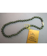 VTG NWT Jade Bead Necklace Hand Knotted 18