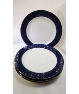 Sakura Galaxy Porcelain 4 Dinner Plates Gold an... - $39.99