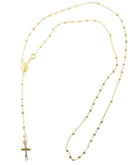 10K Gold Lady Of Guadalupe Rosary Necklace Diam... - $168.56