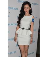 SALE.Classy White Peplum Dress. Sleeveless Shea... - $90.90