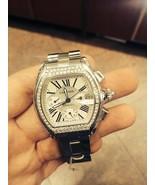 Cartier roadster xl chrono with diamond bezel C... - $7,276.95