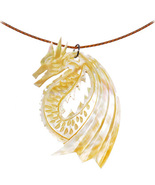 Handcrafted Dragon Mother of Pearl Choker Neckl... - $20.00