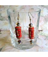 Handmade Kashmiri Long Beaded Dangle Drop Earri... - $15.95