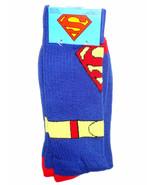NEW Socks one pair The SUPERMAN Rib Knit Crew D... - $7.72