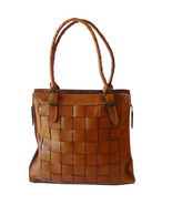 Authentic Patricia Nash Woven Leather Tote Shop... - $55.00