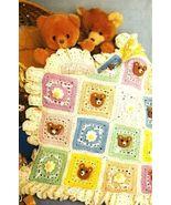 Y408 Crochet PATTERN ONLY Nursery Bears Baby Bl... - $9.45