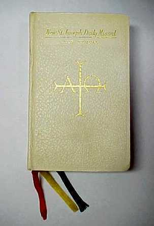 Vintage 1960's New Saint Joseph Catholic Daily Missal and Hymnal