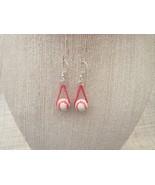 Baseball or Softball Earrings Red Chain Sterlin... - $16.50