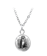 Owl Wisdom Circle Pendant Necklace - $21.00