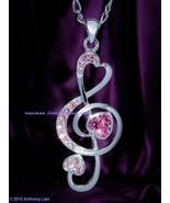 Music Swarovski Crystal Necklace Pendant  - $13.99