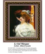 Le bal Masque, Fine Art Counted Cross Stitch Pa... - $39.00