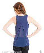 GUESS by Marciano Tank Top Shirt Split Back Blu... - $44.00