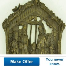 Religious Wall Hanging Plaque Of Birth Of Jesus... - $499.00