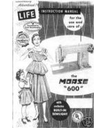 Vintage Morse 600 Sewing Machine Owner Manual Book M - $7.99
