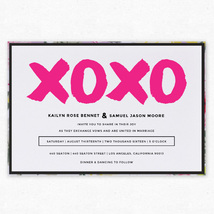 X and O Layered Wedding Invitation - Envelopments by Scriptiva Paper Studio