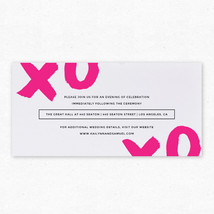 X and O Insert Cards - Pair with X and O Wedding Invitation