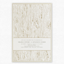 Wood Grain Layered Wedding Invitation - Envelopments by Scriptiva Paper Studio