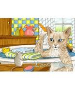 ACEO art print Cat #345 mouse fantasy by L.Dumas - $4.99