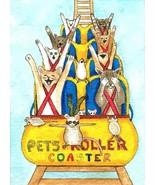 ACEO art print Cat #349 mouse fantasy by L.Dumas - $4.99